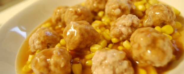 Meat Balls With Corn Beads Chinese Recipe